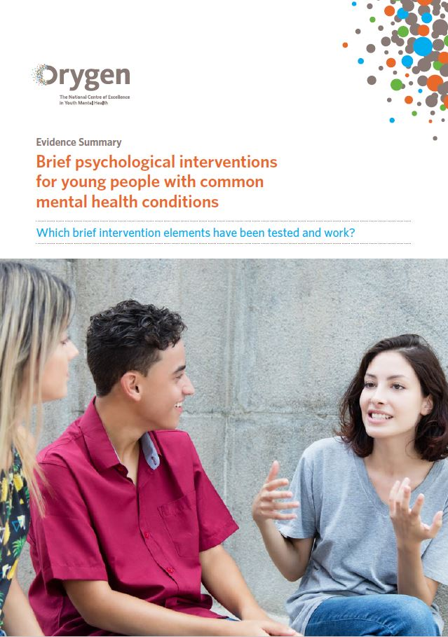 Brief psychological interventions for young people with common mental health conditions