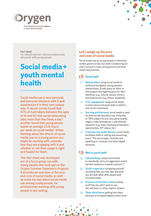 Social media + youth mental he...