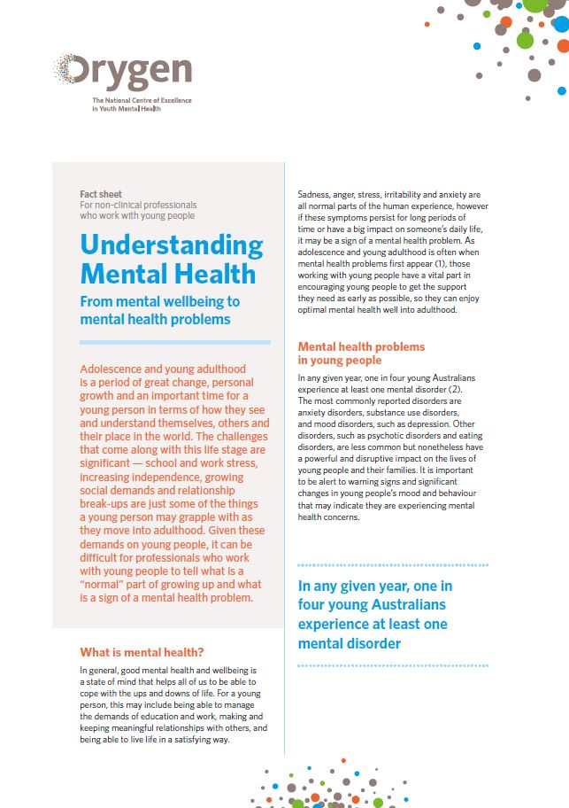 Understanding Mental Health - From mental wellbeing to mental health problems