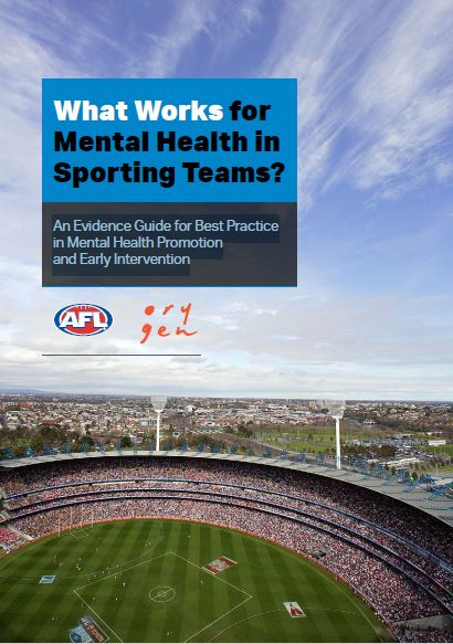 What works for mental health in sporting teams?