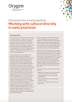 Working with cultural diversity in early psychosis