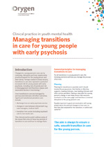 Managing transitions in care for young people with early psychosis