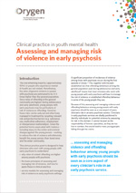 Assessing and managing risk of violence in early psychosis